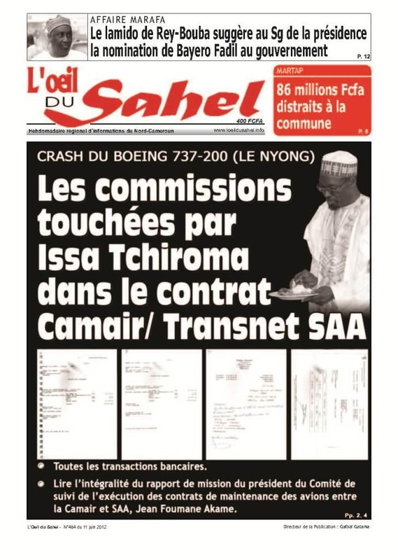 MARAFA SORT LES DOCUMENTS SUR TCHIROMA